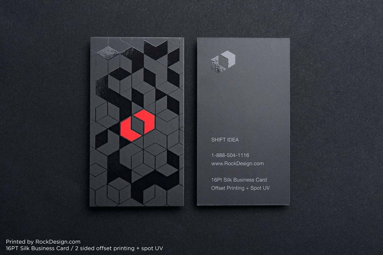 SILK BUSSINES CARDS + SPOT UV – Standard Corners