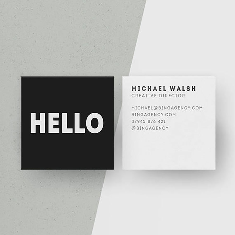 SQUARE BUSSINES CARDS Full color
