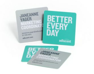 SQUARE BUSSINES CARDS Rounded Corners